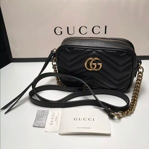 Gucci marmont mini camera bag black